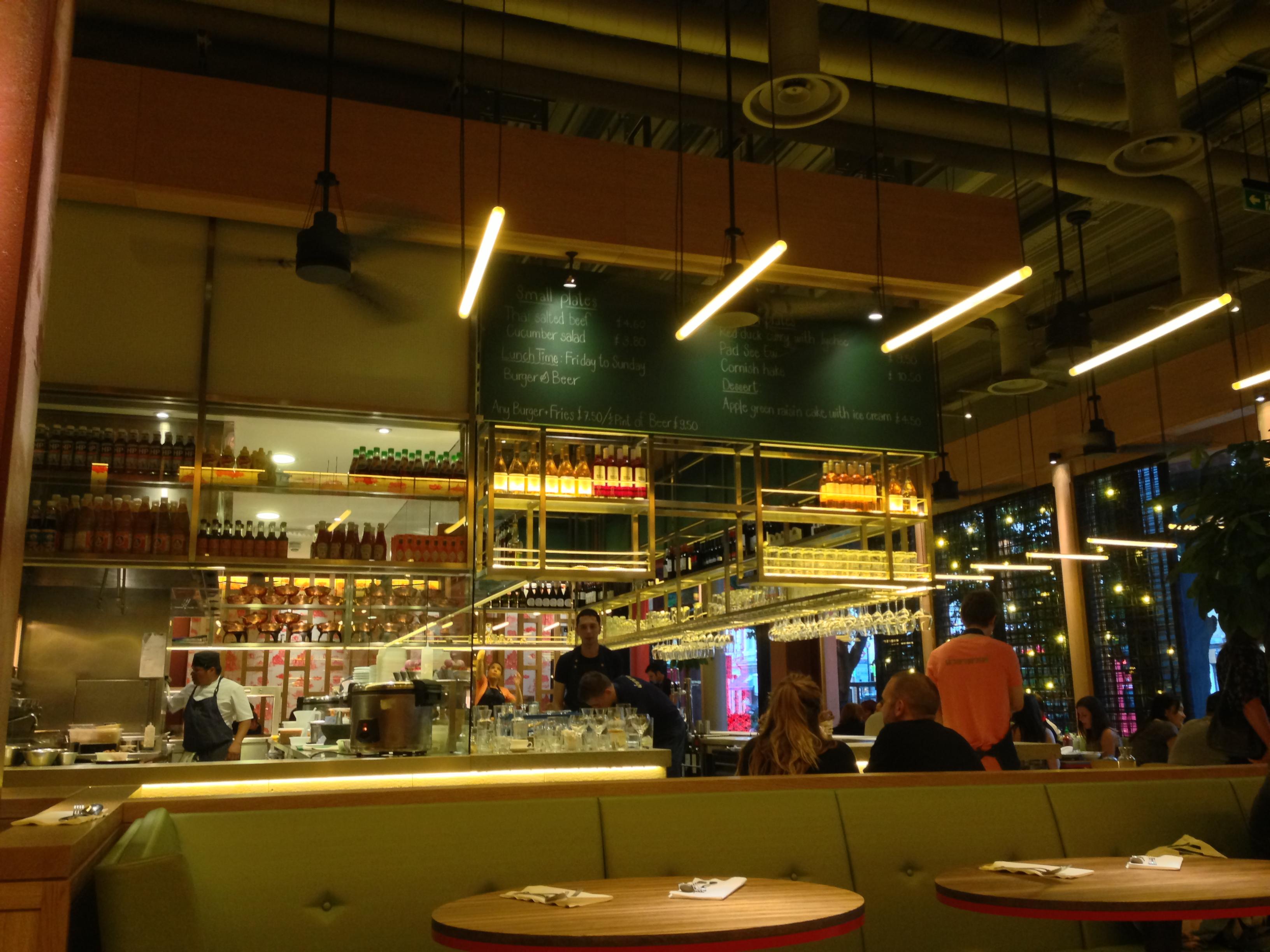 image of Naamyaa Cafe's open kitchen