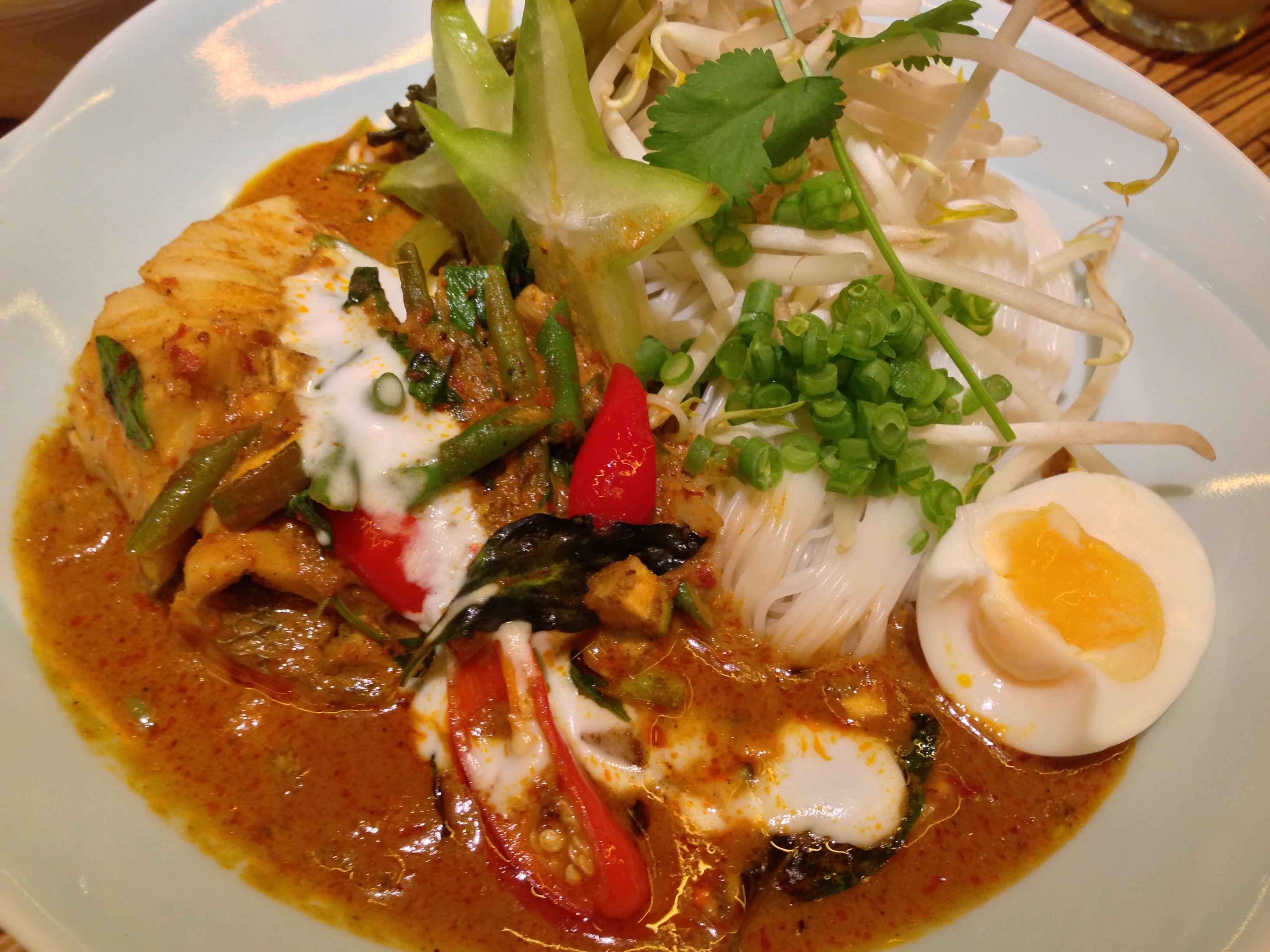 Naamyaa Red Curry Sea Bass at Naamyaa Cafe