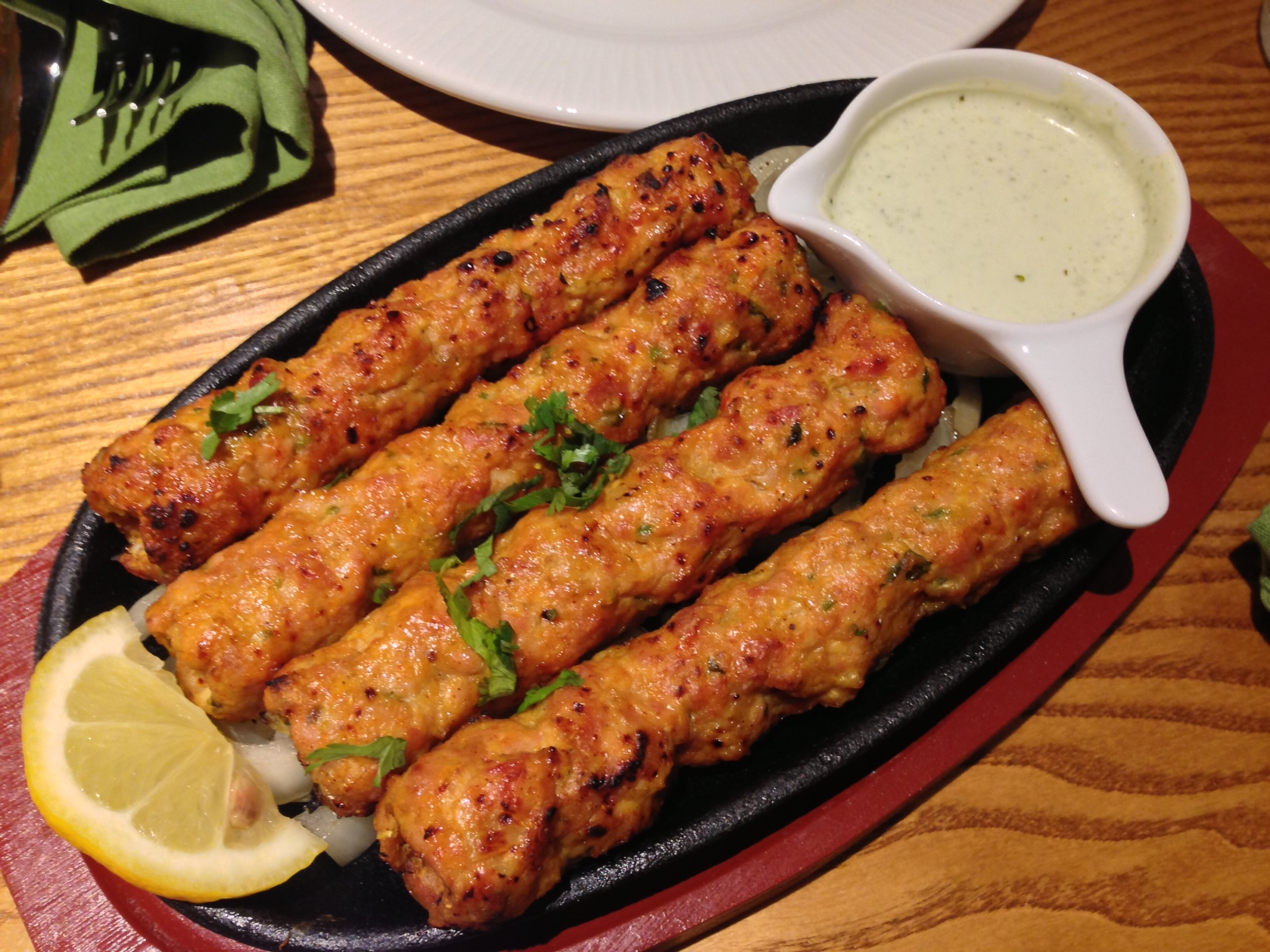 seekh kebabs at salt n pepper UK