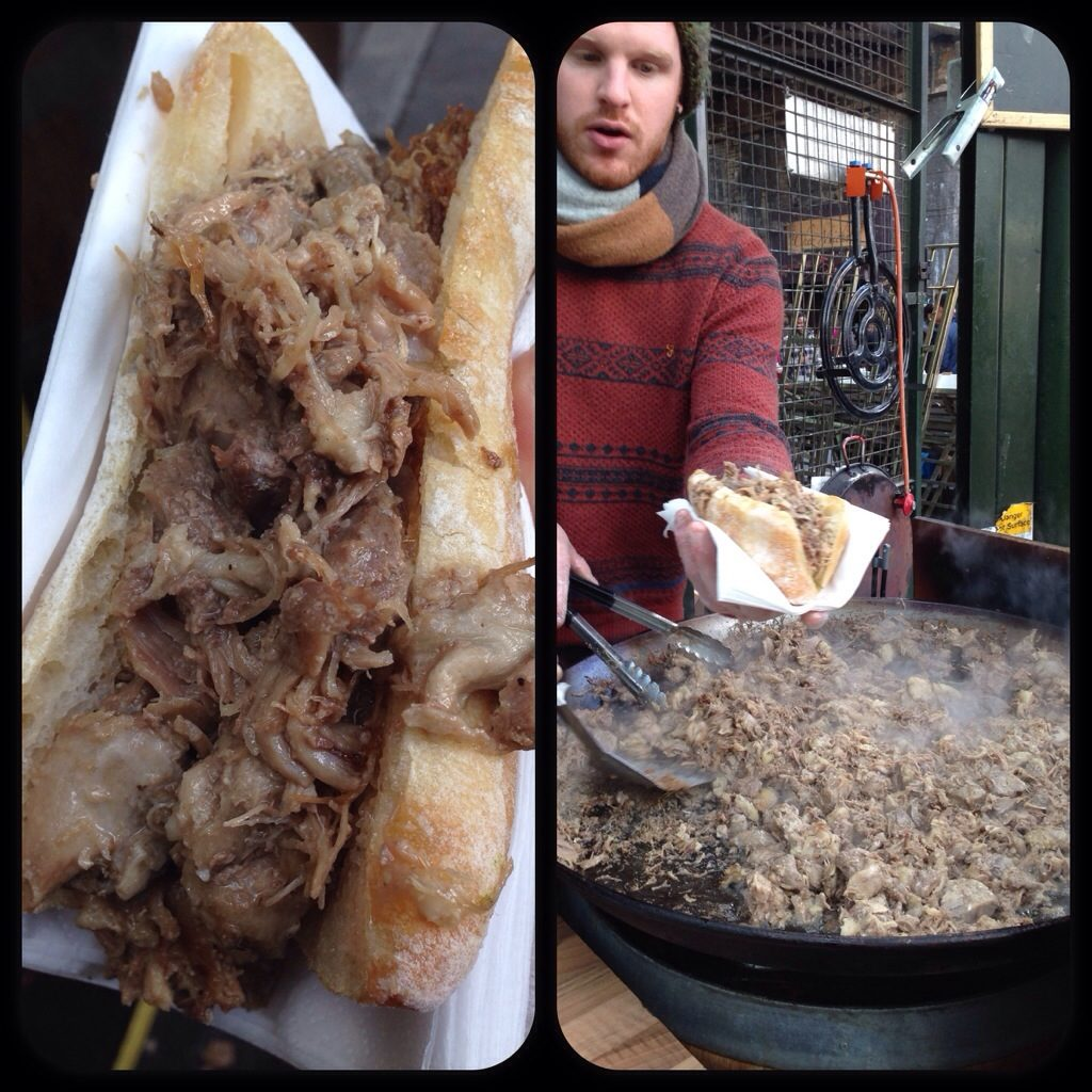 Best duck sandwich, borough market, London