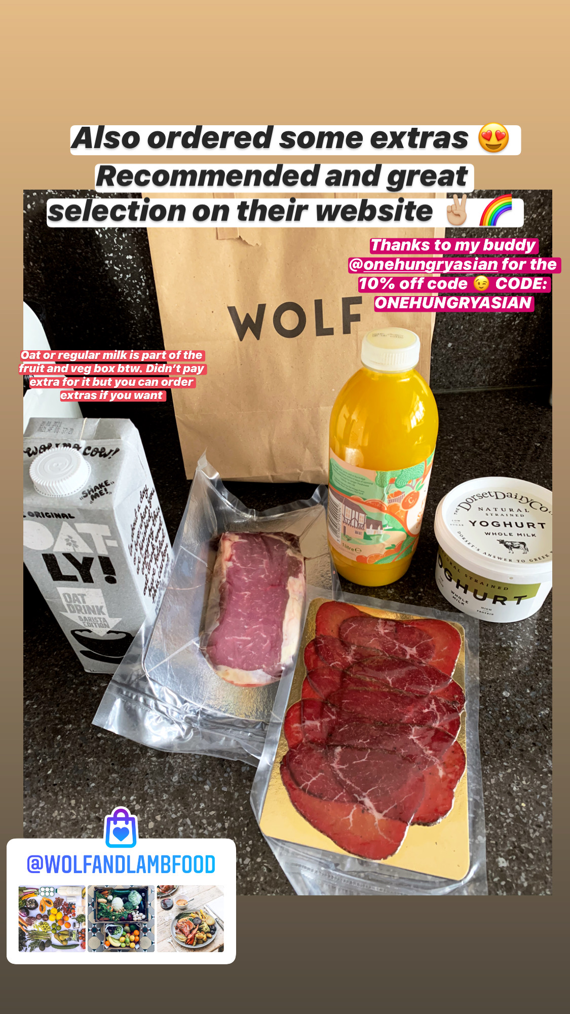 wolf and lamb pantry selection home delivery London during covid 19